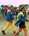 Riccardo Patrese in the paddock before the 1993 British Grand Prix (33686653515).jpg