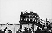 Nixon en el Muro de Berlín