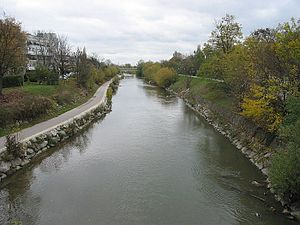 River Schwechat in Schwechat, Lower Austria.jpg