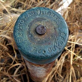Rancho El Conejo - Extant Rancho Las Virgenes and Rancho El Conejo boundary marker.