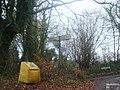 Road sign, Shoreham, Kent - geograph.org.uk - 1593847.jpg