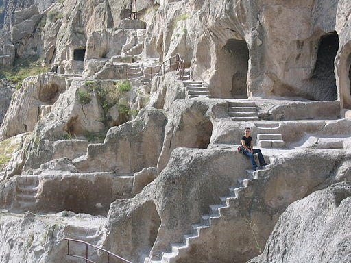 Rock-hewn steps in Vardzia