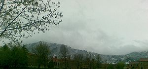 Rocky Mountains visible from University of Colorado at Boulder