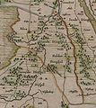 Rolderdingspel op kaart van Drenthe door Cornelis Pijnacker.jpg