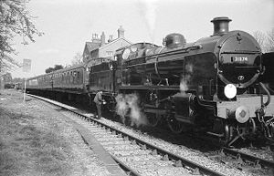 SECR N class - Image: Ropley Station on the Mid Hants Railway (touched up)