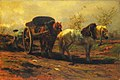 Rosa Bonheur - Twee paarden voor een kar, 1852 (Amsterdam Museum).jpg