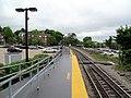 Roslindale Village station from mini-high platform, May 2012.JPG