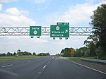 Route 55 southbound at an interchange with Route 47 (Delsea Drive) in Millville