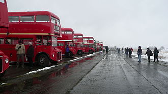 Wisley - Image: Routemasters at Wisley Airfield