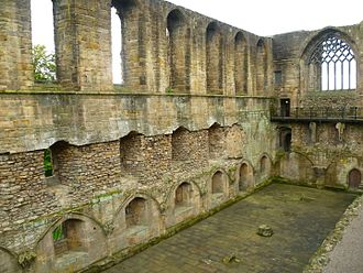 Dunfermline Abbey - The ruined Refectory, Dunfermline Abbey