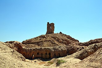 Borsippa - Ruins of the ziggurat and temple of Nabu at Borsippa, Babylonia, Iraq