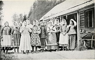 Serfdom in Russia - Group of Russian peasant women