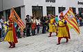 Rutenfest 2010 Festzug Fahnen Venedig Aragon.jpg