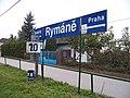 Rymaně, železniční zastávka, název Rymáně.jpg