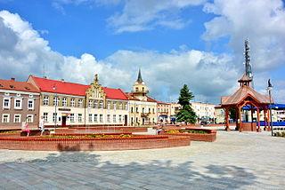 Lubaczów Place in Subcarpathian Voivodeship, Poland