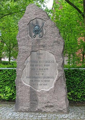 Skirmish of Århus - The memorial stone.