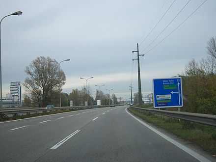 Motorway to Vienna in the industrial area of Krems S5 Landersdorf.JPG