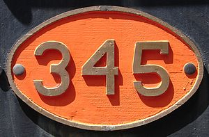South African Class 7 4-8-0 - CGR Number plate