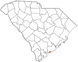 Location of Seabrook Island in South Carolinia.