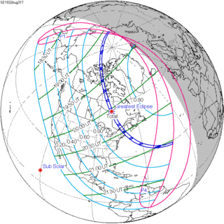 Solar eclipse of August 31, 1932 20th-century total solar eclipse