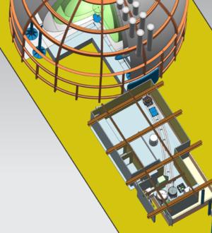 Borexino - Image: SOX deployment concept