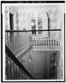 STAIRHALL, FROM SECOND FLOOR - Longfield, 1200 Hope Street, Bristol, Bristol County, RI HABS RI,1-BRIST,20-4.tif