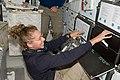STS-135 Sandy Magnus on the middeck.jpg