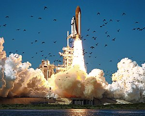 STS-51-L - Challenger launches at the start of STS-51L.