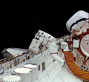 STS-6 - Image: STS 6 EVA
