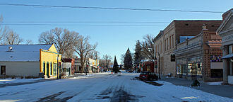 Saguache, Colorado - 4th Street, downtown Saguache.