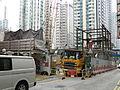 Sai Ying Pun Station Exit B2 under construction.JPG