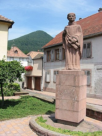 Saint-Hippolyte, Haut-Rhin - Statue of Saint Fulrad at Lièpvre