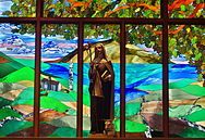 Saint Brigid of Kildare Church (Dublin, Ohio) - statue of Saint Brigid.jpg