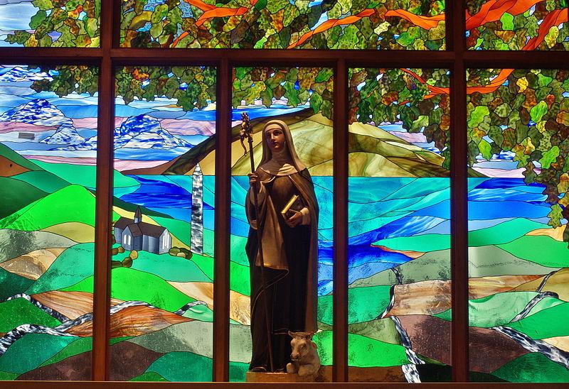 Datei:Saint Brigid of Kildare Church (Dublin, Ohio) - statue of Saint Brigid.jpg