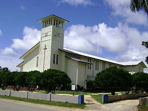 Free Wesleyan Church - Saione, Kolomotu'a, in Nuku'alofa. The Church of the King.