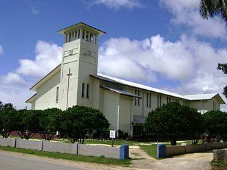 Religion in Tonga - Saione, the church of the King, a Free Wesleyan Church in Kolomotuʻa, Tonga