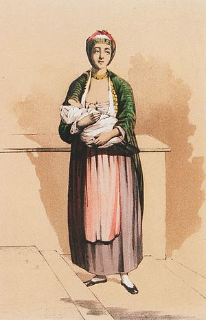 History of the Jews in Thessaloniki - Gravure of Jewish woman (late 19th century)