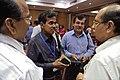 Samarendra Kumar - Rajesh Purohit - Binoy Kumar Sahay - Emdadul Islam - Tea Break Discussion - VMPME Workshop - Science City - Kolkata 2015-07-16 9237.JPG