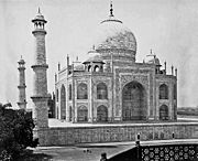Taj Mahal by Samuel Bourne, 1860.