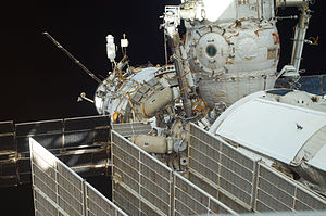 Aleksandr Samokutyayev - Samokutyayev and Volkov work outside the ISS during Russian EVA No. 28 on 3 August 2011.
