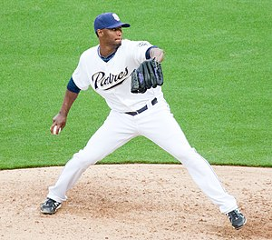 Samuel Deduno - Deduno pitching for the San Diego Padres in 2011