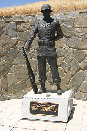 """San Joaquin Valley National Cemetery - """"The Airborne Soldier"""" memorial"""