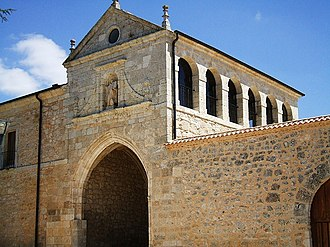 Valbuena Abbey - Western facade of the sections of the monastery.