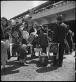 San Bruno, California. Family of Japanese ancestry arrives at assembly center at Tanforan Race trac . . . - NARA - 537480.tif