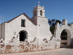 Adobe - Church at San Pedro de Atacama, Chile