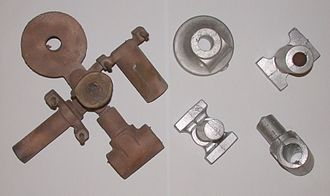 Sand casting - Two sets of castings (bronze and aluminium) from the above sand mold
