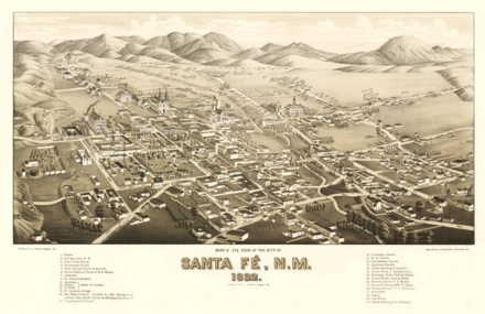 Santa Fe, 1882, the railroad era Santa Fe, NM (1882).png