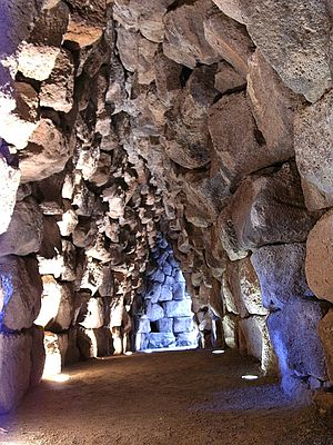 Corbel arch - Arches at Nuraghe Santu Antine, Sardinia, 19-18th centuries BC