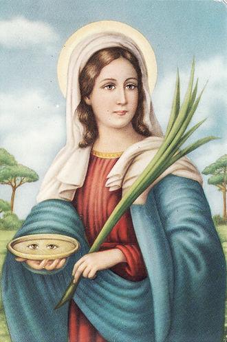 Saint Lucy - Popular devotional image.