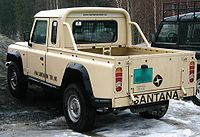 Santana pickup, derivado do Land Rover Defender